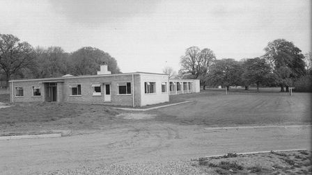 Old archive photo of building at Wymondham College, Norfolk in1965.