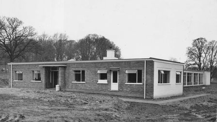 The new single storey courses block at Wymondham College in Norfolk 1964