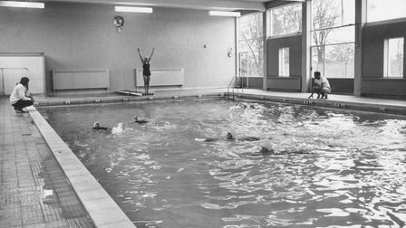 The new swimming pool at Wymondham College, Norfolk in 1963.