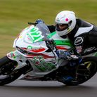Lewis Lakey of WIsbech in superbike action