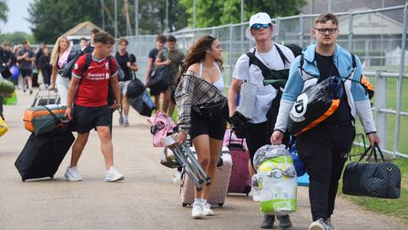 Campers arriving at the Norfolk Showground for the Sundown Festival. Picture: DENISE BRADLEY