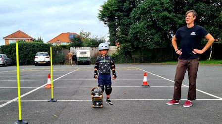 Ash Lever of ABC Skateboarding Norwich delivered skateboarding sessions for the SYEP activities day in Sprowston