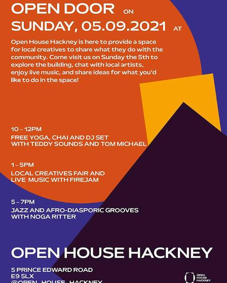 Hackney Wick's Open House will launch on Sunday September 5.