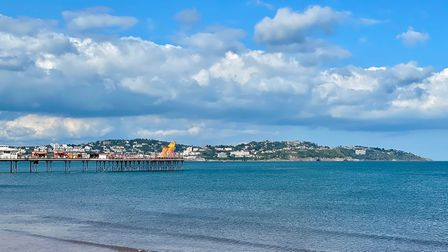 The view of Torquay from Paignton