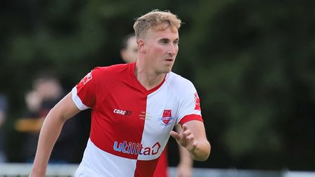 Ben Spaul got Welwyn Garden City's first equaliser away to Mulbarton Wanderers in the FA Cup.