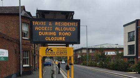 A warning to motorists that the Great North Road in Hatfield