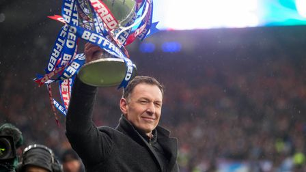 Chris Sutton during the Betfred Scottish Cup Final at Hampden Park, Glasgow.
