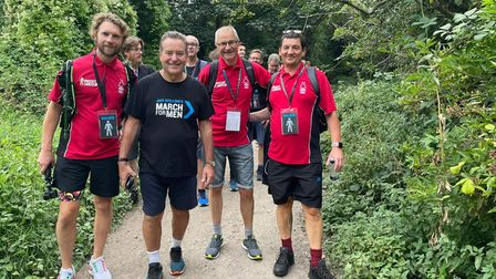 Jeff Stelling during his latest epic walking challenge