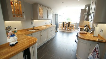 The superb, open-plan kitchen and dining room