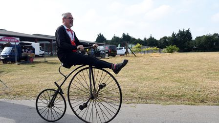 An unusual bike at Ride for Helen, from Trinity Park, Ipswich, in aid of the Helen Rollason cancer charity