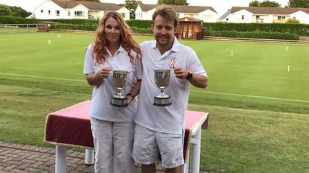 Louise Smith and Ryan Crabble celebrate their success