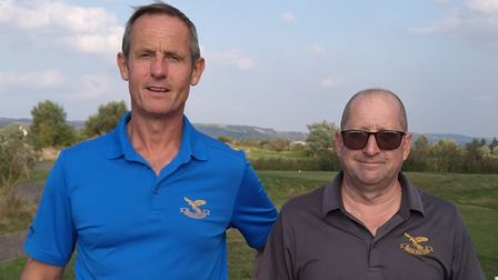 Brean Down Trophy winners Jerry Brueford (left) and Roy Fletcher (right)