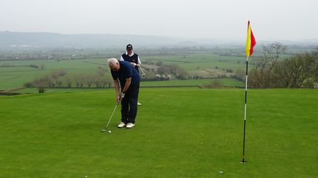 Action from Wedmore Golf Club