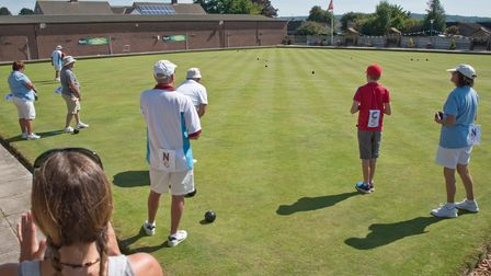 Nailsea and Congresbury Bowls Club helda fun tournament in aid of St Peter's Hospice in 2019