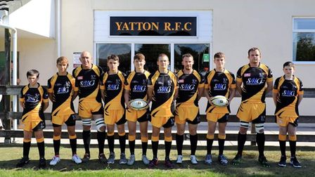 Yatton Rugby Club members in new kit