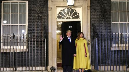 U.S. President Donald Trump and first lady Melania arriving at 10 Downing Street. Photograph: Alasta