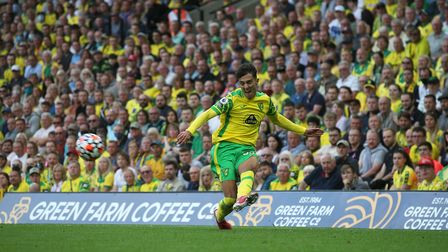 Dimitris Giannoulis of Norwich in action during the Premier League match at Carrow Road, Norwich Pi