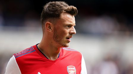 Arsenal's Ben White during The Mind Series match at the Tottenham Hotspur Stadium, London. Picture d