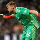 Arsenal goalkeeper Aaron Ramsdale during the Carabao Cup second round match at The Hawthorns, West B
