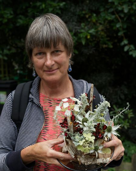 """Rita Drobner """"Frozen North' first time winner at Highgate Horticultural Society Autumn show 2021"""