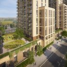 Image of how five high rise storeys will look near Wembley Park Station