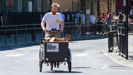 A cargo bike can carry heavy goods for deliveries, shopping or moving small items of furniture.