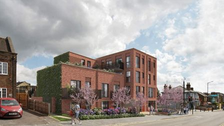 A CGI of the proposed development, viewed from Upper Lattimore Road.