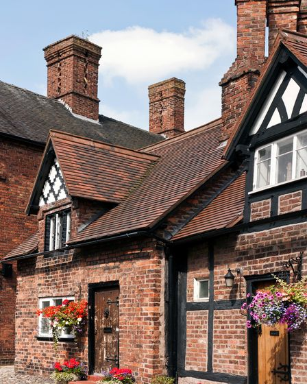 Typical houses in Great Budworth village, Cheshire