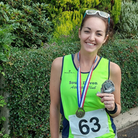 Dani Waters won her age category in the Chagford Two Hills Race
