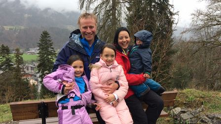 Simon Greenberg and his wife Fran, and childrenSam, Sukie and Coco