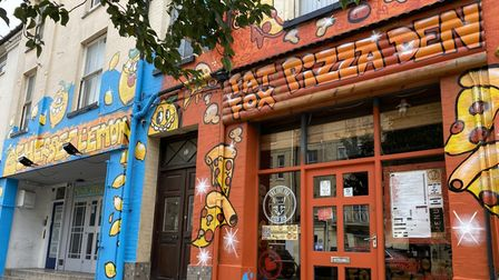 Norwich-basedgraffitiartists Foie Graswere commissioned to create a mural for the Sherbet Lemon and Fat Fox Pizza Den
