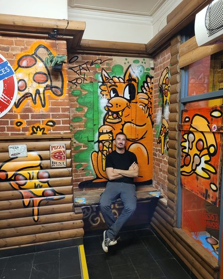 Richard Chisnell is the owner of the Fat Fox Pizza Den and Sherbet Lemon bar on Prince of Wales Road.