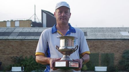 Perry Hall chairman of Alexandra Road Bowls Club Wisbech