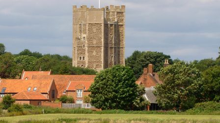 Orford Castle and village