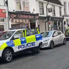 This is the moment a takeaway shop in Huntingdon High Street was raided by police due to concerns around drug dealing
