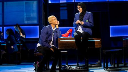 Layton Williams (Jamie New) and Sharan Phull (Pritti) in the Everybody's Talking About Jamie