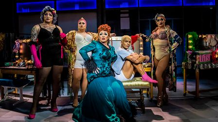 Shane Richie (Loco Chanelle), Layton Williams (Jamie New) and the Drag Queens in the Everybody's Talking About Jamie