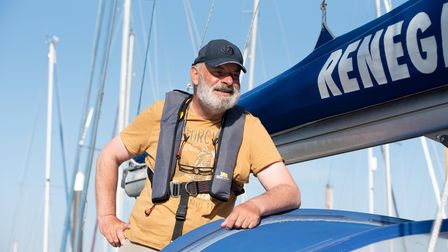 Cancer patient Olle Nash has arrived home after sailing around Britain on Renegade. Picture: Sarah