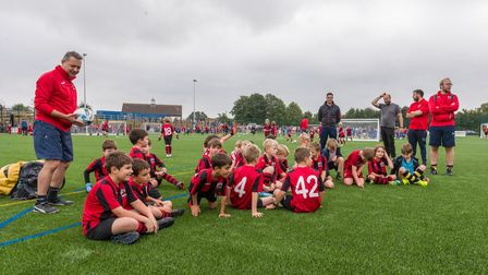 Youngsters and adults using the new 3G pitch for Uttlesford in Saffron Walden
