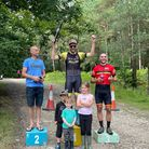 Axe Valley Pedallers on the podium