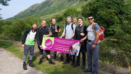The friends start their challenge at the base of Ben Nevis