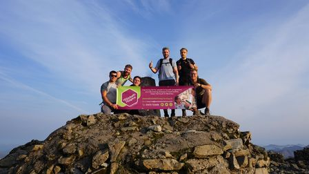 The group reached the summit of Ben Nevis, the UK's highest point