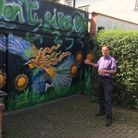 Paul Lorber has been told to remove a mural from his garage in North Wembley