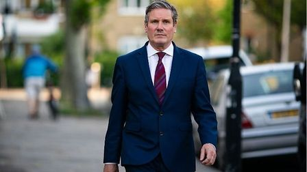 Labour leader Sir Keir Starmer outside his home in north London; Aaron Chown/PA Wire/PA Images