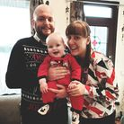 Stuart, Kayleigh and Theodore Green having a great Christmas after Mr Green recovered from surgery.