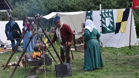 There will be a historical encampment outside St Augustine's Church in Norwich.