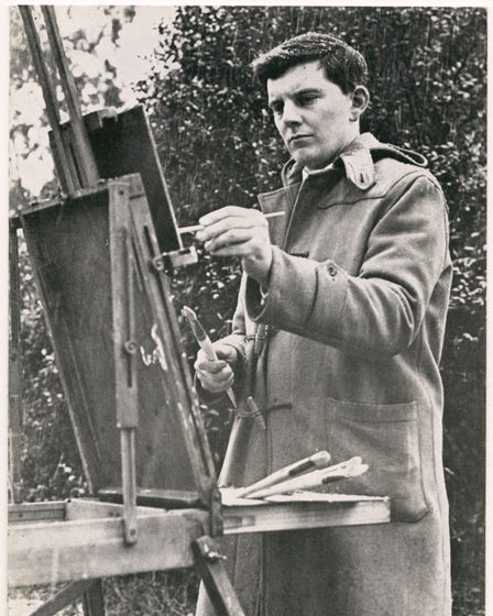 Ian Houston at his easel in 1964