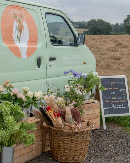 The Eva Lily Blooms van will be doing pop-ups and private events, including birthday and hen parties.