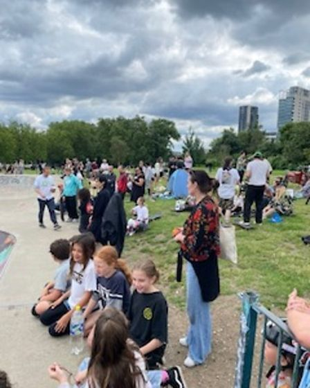Nearly £5,000 was raised for a new skate park in Finsbury Park through a 'skate-a-thon'