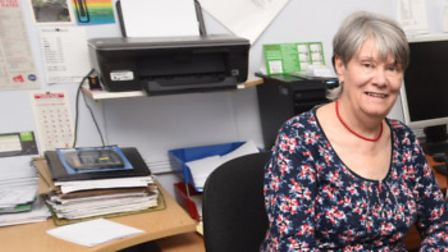 Staff at Ipswich Disability Advice Bureau. Manager Pat Ramsey, pictured left, said the PIP process c